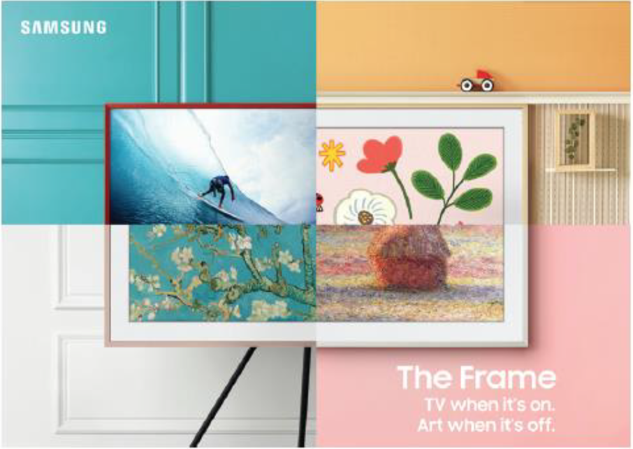 Samsung Frame: TV when it's on, art when it's off!